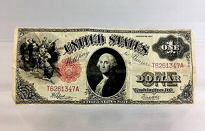 Series of 1917 $1 United States Currency Large One Dollar Bill T6261347A