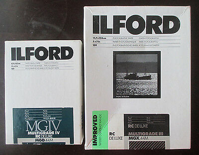 ILFORD MGIV MULTIGRADE IV 3 1/2 x 5 in& sheet box photographic paper