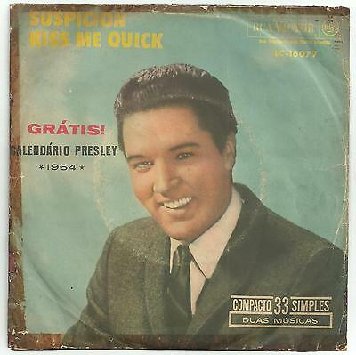 Elvis Presley - Scarce single from Brazil with Picture sleeve..