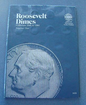 Complete 1946 - 1964 Roosevelt Silver Dime Set In Whitman Book - 50 Dimes
