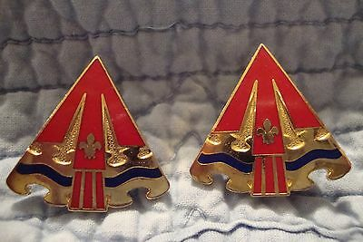 24th Artillery Crests