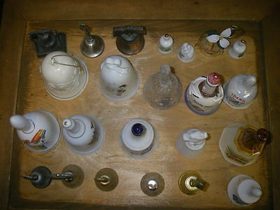23 Different Styles Of Collectible  Bells Glass Metal Crystal  A Must See