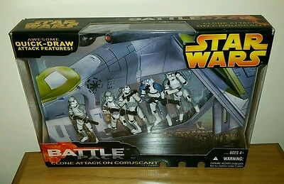MISB Star Wars rots battle pack clone attack on coruscant sealed
