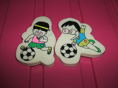 RARE 1980s FOOTBALL PLAYER CHARACTER ERASERS RUBBERS  - COMBINED POSTAGE