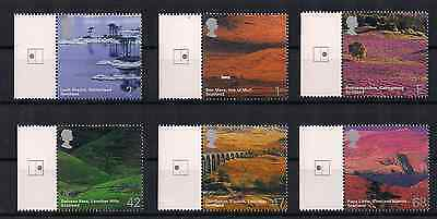 2003 Gb Qeii A British Journey Scotland Commemorative Gutter Stamps Sg 2385 2390