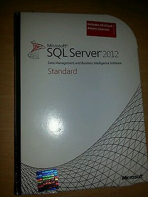 Microsoft SQL Server 2012 - Standard Edition with 10 CAL's (DVD) 228-09586
