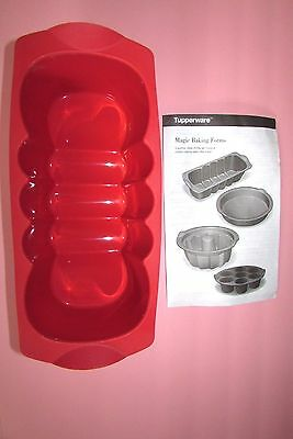 NEW Tupperware Magic Loaf Silicone Baking Pan 45248-8 Booklet with Recipes Care