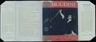 HOUDINIs LIFE STORY (1928 First Edition Reproduction Book DustJacket)