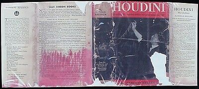 HOUDINIs LIFE STORY (Reproduction Book DustJacket - Year/Edition Unknown)