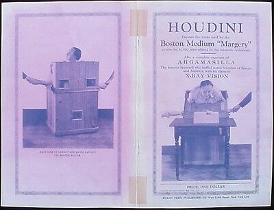HOUDINIs/MARGERY Expose' (1924 Houdini Pamphlet Reproduction Cover)