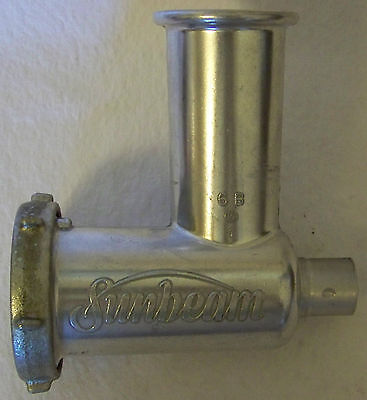 Sunbeam Mixmaster Grinder Attachment Model 6B Plate Knife Meat Food Appliance