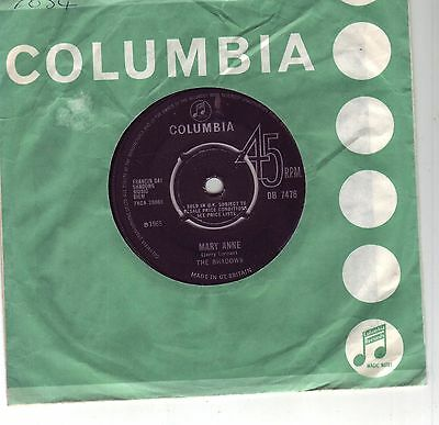 The Shadows Mary Anne  45 Original 1St Pressing 1965
