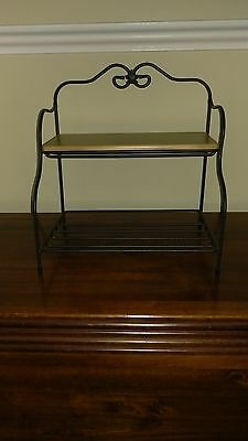 Longaberger Small Bakers Rack With Shelf
