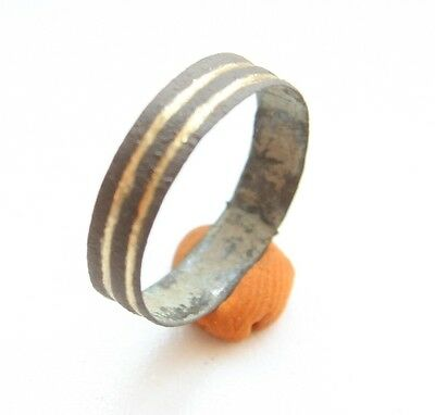 Ancient Old Medieval Bronze Ring (JLL01)