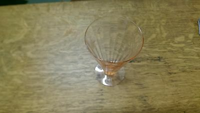 Antique pink glass gobblers