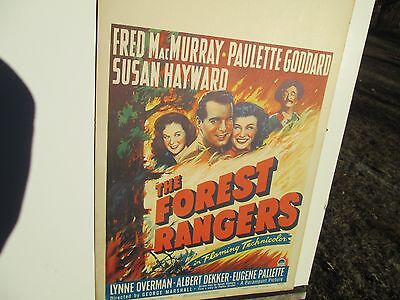 1942 Fred Macmurray, Paulette Goddard, Susan Hayward Window Poster