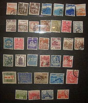 Japan postage stamps old early used Lot 21