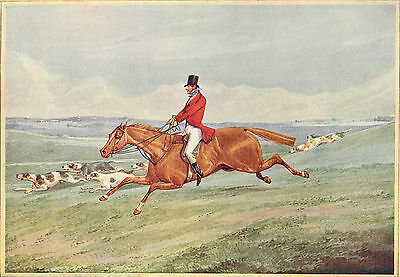Fox Hunting, Taking The Lead after Henry Alken Antique 1908 Print