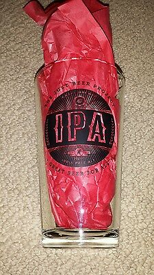 "(1) 16oz ""The Just Beer Project"" Beer Glass. Craft Brewed IPA. NEW."