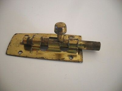 "One Vintage Brass / Steel 2-1/2"" Stanley Barrel Bolt Latch Gate Door (No Keeper)"