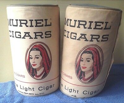Muriel Cigars Pop-Arts advertisement pcs.-Andy Warhol style-mid century