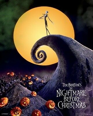 """THE NIGHTMARE BEFORE CHRISTMAS MINI POSTER """"BRAND NEW"""" SIZE 40cm X 50cm"""