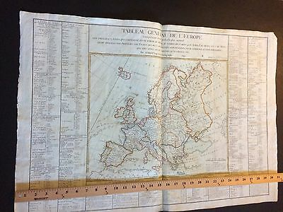 Rare Large Map Of Europe Dated 1792 Under French Revolution By Brion De La Tour.