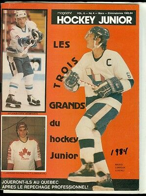 Jr Hockey Program - Mario Lemieux Cover 1984