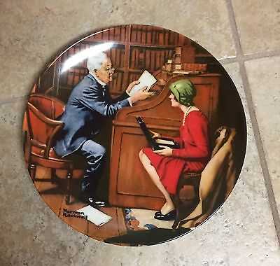 Knowles Norman Rockwell Plate The Professor From The Heritage Collection