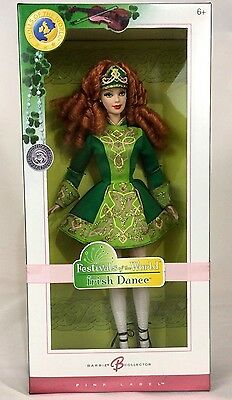 New Festivals of the World Irish Dance Barbie Doll Collector 2006 Pink Label