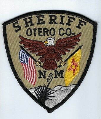 Otero County NM New Mexico Sheriff patch - NEW! *EAGLE & FLAGS* Cloth Back