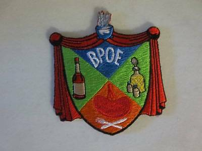 "BPOE Elks 3"" x 3.5"" Embroidered Patch FREE Shipping Excellent Condition"