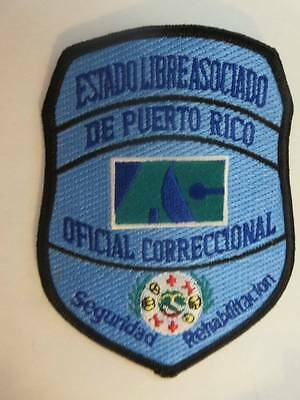 "Puerto Rico Oficial Correccional 5"" x 3.75"" Embroidered Patch FREE Shipping"