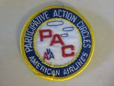 """American Airlines Participative Action Circles 3"""" Embroidered Patch VG Cond."""