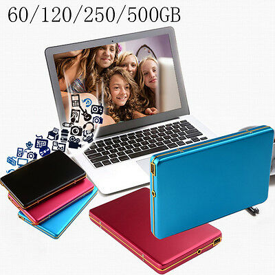 Ultra Slim 250GB 500GB Portable External 2.5-inch Hard Disk Drive Backup USB 2.0