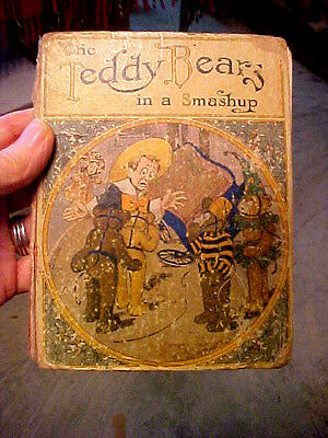 """Antique """"The Teddy Bears"""" In A Smash Up Book.C.1907."""