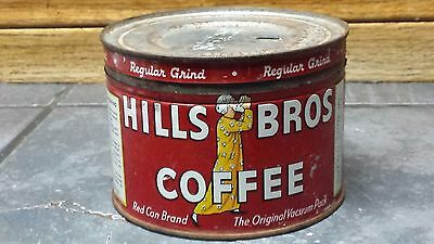 Vintage Hills Bros Coffee Red Can Brand Collectible Tin