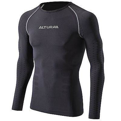 Altura Second Skin Long Sleeve Bike/Cycling/Cycle Base Layer Top - Grey