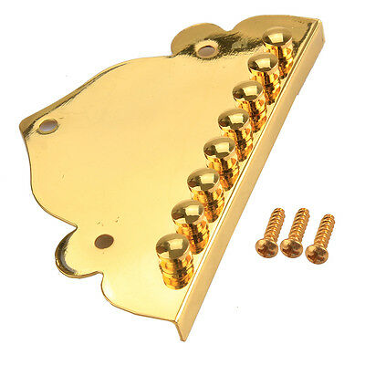 Triangle Mandolin tailpiece Gold Plated For Guitar Maker With Screws