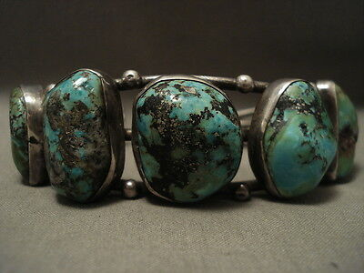 Super Chunky Vintage Navajo Old Royston Turquoise Silver Bracelet