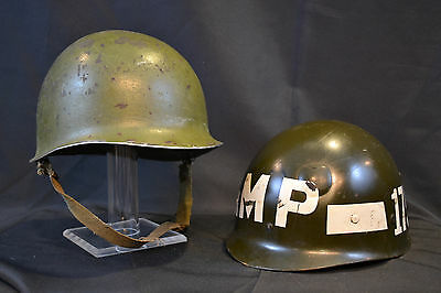 Wwii Us Ww2 M1 Front Seam Fixed Bale Helmet Usa Westinghouse 175 Mp Liner