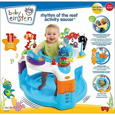 Baby Einstein Rythm of the Reef Ocean Jumper Exersaucer Exercise Baby Gym NEW