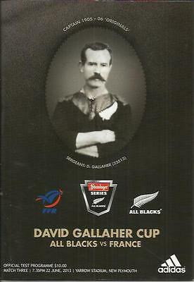 2013 All Blacks v France test rugby programme, New Plymouth