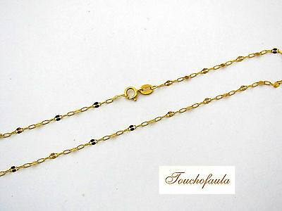 """14K solid yellow gold 9 3/4 """" pretty sparkling lace and link anklet Italy."""