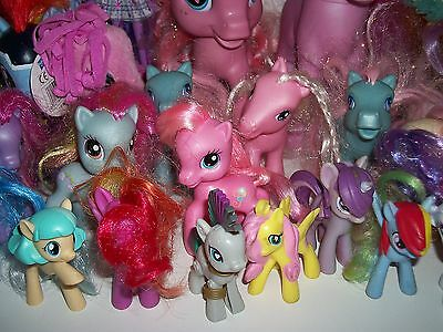Mixed lot of 30 My Little Pony Toy Ponies