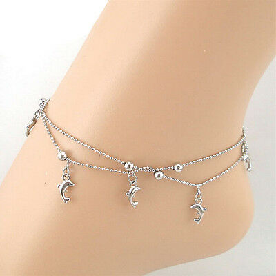 Fashion Dolphin Women Bracelet Foot Ankle Chain Jewelry Gift