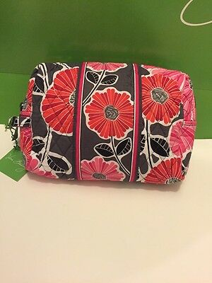 NWT Vera Bradley Travel LARGE Large Cosmetic Bag In Cheery Blossoms