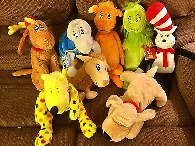 Lot of 6 Kohl's Cares Dr Seuss Plush Stuffed Animal Characters~Cat in the Hat