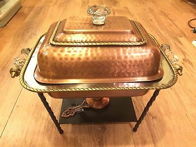 Copper, Stainless Steel and Iron Chafing Dish Warming Pan