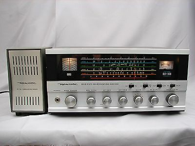Realistic DX 160 Shortwave Receiver w/ Matching Speaker - Slightly Used